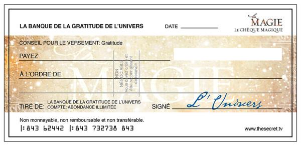 3ème rituel : Le chèque d'abondance